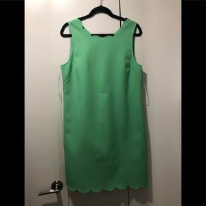 NWT: Jcrew factory green scallop dress